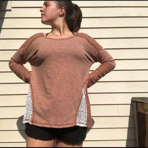 Women's Rustic Burgundy Long Sleeve